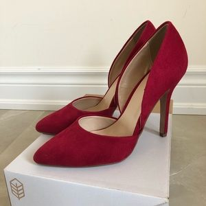Call It Spring Catandica Pump, Red Faux Suede